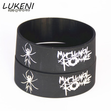 LUKENI Hot Sale My Chemical Romance Silicone Wristband Rubber Power Men Bracelet Spider Punk Rock Band Banles Music Lover SH065