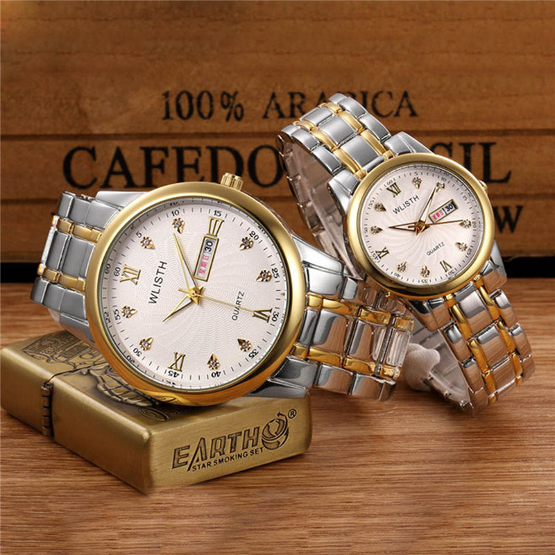 WLISTH High Quality Women Watches Stainless Steel Couples Lovers Watch Ladies Pair Wristwatch Men Watches<br><br>Aliexpress