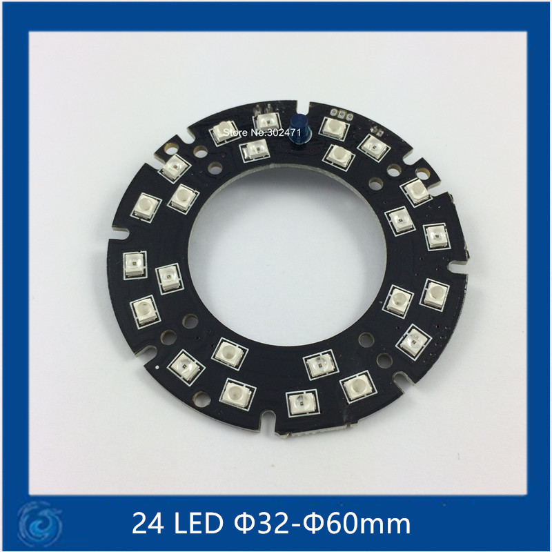 Infrared 24 IR LED board for CCTV Cameras night vision (size F32-F60mm) SMT3528 LED<br><br>Aliexpress
