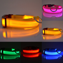 2017 New LED Night Safety Dog Puppy Pet Tag Flashing Light Nylon Leash Harness