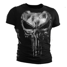 The Punisher Skull Men Print Marvel Comics Clothes HIP-HOP Style Summer T shirt Own Design