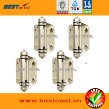 4 Pieces Mirror polish 316 Stainless steel Self Closing Hinges of glass to FLAT  for glass swimming pool fencing