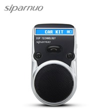 Free Shipping Solar Powered Bluetooth Car Kit LCD Display Caller ID Hands Free Bluetooth Speaker in Car Handsfree Calling(China)