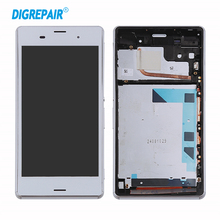 5.2 Inch LCD Touch Screen Digitizer Replacement Assembly Parts With Frame For Sony Xperia Z3 D6603 D6643 D6653 D6616 Black White
