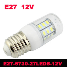 5pcs 12v 5730 SMD Corn Bulbs Chip led light  Corridors Use Energy Efficient 27LEDs Lamps Max 7W Lighting for home