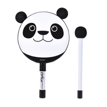 6in Hand Held Tambourine Drum Bell Panda Percussion Musical Instrument Toy Gift with Mallet for Baby Kids Children(China)