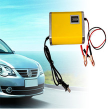 Car styling Motorcycle Car Auto 12V 6A Battery Charger Intelligent Charging Machine Yellow