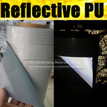 50X100CM Premium quality reflective transfer PU,Reflective PU Vinyl for heat transfer,T-shirt heat press film by free shipping(China)