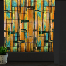 stained glass art window sticker sunscreen 70x100cm opaque frosted No glue electrostatic window privacy film Hsxuan brand 703201(China)