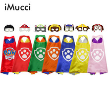 iMucci Kids Cosplay Cape Mask Set Paw Costume Dog Paw Cape For Child Birthday Party Halloween International Children's Day Gift(China)