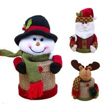 Christmas Candy Bag Box Santa Claus Snowman Reindeer Shape Gift Bag Snack Food Container Christmas Tree Decoration Table Decor(China)