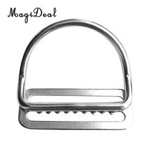 MagiDeal Heavy Duty Scuba Dive 316 Stainless Steel Keeper Clip & Bent D Ring for 5cm Weight Belt Surfing Swimming Climbing Sport(China)