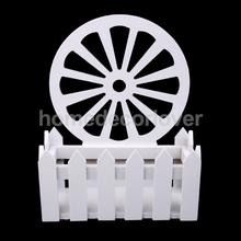 Wooden Garden Patio Flowers Picket Fence Pot Potted Planter Holder Stand DIY