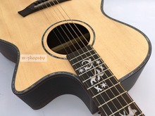 professional solid spruce top electric acoustic guitar free string free shipping
