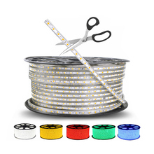 220V 60leds/m SMD 5050 IP67 Waterproof led strip flexible light 1M/2M/3M/4M/5M/6M/7M/8M/9M/10M/11M/12M/15M/20M + Power EU Plug