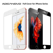 Buy 2PCS 2.5D Front Full Cover Tempered Glass iPhone 6 6s plus Screen Protector Film iphone 8 7 plus film case black white for $2.27 in AliExpress store
