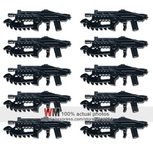Buildng Blocks 2017 Latest 10pcs/lot Weapons of Star Trek Halo Science fiction Weapon Pack Baby Toys(China)