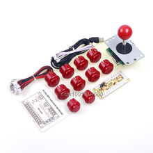 Arcade Raspberry Pi 1 2 3 Project Arcade Push Buttons + 5 Pin Arcade Stick + USB Encoder Board Replace Sanwa Button Joystick DIY(China)