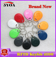 10pcs 5YOA EM4100 125khz ID Keyfob RFID Tag Tags Access Control Card Porta TK4100 Sticker Key Fob Token Ring Proximity Chip(China)