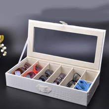 high quality luxury PU Leather Organizer Desk Organizer For Readingglass, Office Desk Set Gifts(China)
