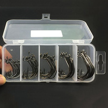 50pcs/bag Carbon Steel Fishhook Carp Fishing Jig Hook With Hole Fly Fishing Tackle Box 2# 1# 1/0# 2/0# 3/0# Pesca Fish Hook(China)