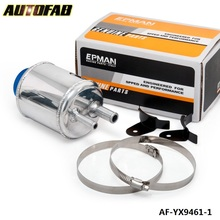 AUTOFAB - Fuel Cell Racing Power Steering Tank Pump Aluminum Breather Tank With Brackets AF-YX9461-1(China)