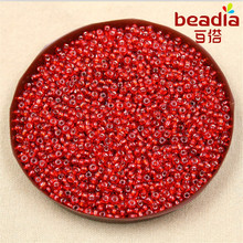 Multi-colored 80g/lot 3mm DIY Czech Glass Seed Beads with Silver Lining Loose Spacer Beads for Jewelry Making