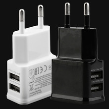 Hot 5V 2A Dual USB Port EU Plug AC Wall Charger Adapter For Cellphone Tablet Wholesale Drop Shipping(China)