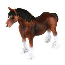 Starz Clydesdale Horse Model PVC Action Figures Animals World Collection Toys Gift for Kids