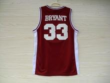 KB Lower Merion High School Jersey, Lower Merion 33 Ko-Be High School White Red Black Throwback Basketball Jersey(China)