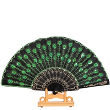 Hot Sales Elegant Fragrant Home Decoration Crafts Print Bamboo Wooden Fan Summer Accessory Art Folding Carved Hand Fan