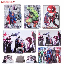 "AIBOULLY Super Heroes Universal Tablette Coque Cover Case for 7"" AT&T ASUS MeMo Pad 7 LTE GoPhone Prepaid Tablet Stand Holder"