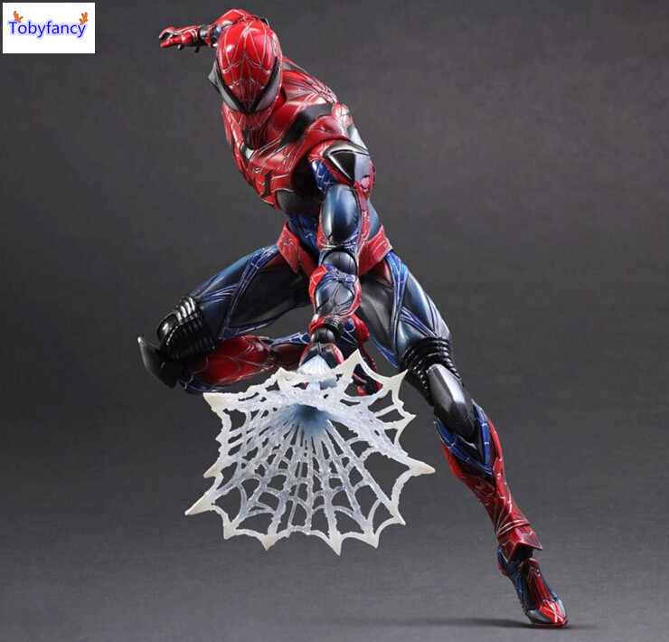 Tobyfancy Spider Man Action Figure Play Arts Kai Collection Model Anime Toys Amazing Spiderman Play Arts Spider-Man<br>