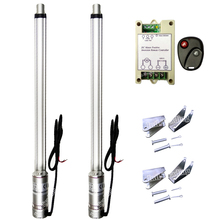 "A Pair of 2x 18"" 450mm Stroke Linear Actuator W/ Wireless Motor Controller Kit-1500N 330lbs Lift 4mm/s 12V DC Window Door Opener"