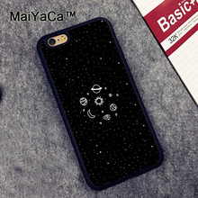 MaiYaCa Space Sketch Sun Moon Stars Planets Soft Rubber Phone Cases For iPhone 6 6S Plus 7 7 Plus 5 5S SE Cover Bags Skin Shell