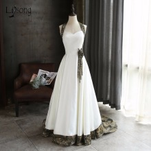 Cool Camo Wedding Dresses 2018 WithBridal Veil Halter Off Shoulder Plus Size Fashion Robe De Mariee 3D Flower Fashion Casamento(China)