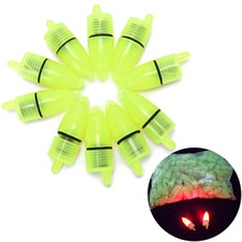 10Pcs Fishing Rod Tip LED Light Bells Alarm Clip Night Bite Ring Fish Bait Alarm Fishing Tool(China)