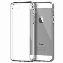 Portefeuille For capa iPhone 5 SE Case Apple Bumper Cover Shock-Absorption Bumper Clear Back for coque iPhone 5 5s Crystal Clear