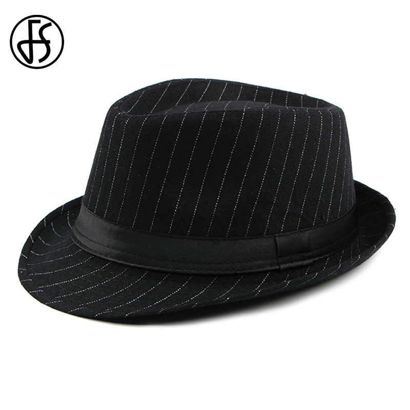 Detalle Comentarios Preguntas sobre FS Vintage fieltro sombrero de ala ancha  gángster sombreros para hombres 2018 elegante sombrero de primavera y otoño  ... 81db9d5a233