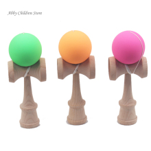 Abbyfrank Professional Rubber Paint Kendama Matte Ball Kid Kendama Japanese Traditional Toy Wooden Ball 18.5 cm Skillful Toy