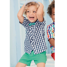 Kids Clothes Summer Newest Design Baby Boys Clothing Ropa Plaid Shirt Top+Short Pants Suit Boys Vestido Baby Boys Clothes Sets