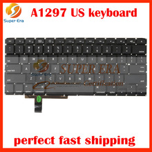 A1297 US keyboard for macbook pro 17'' A1297 USA America small enter layout keyboard clavier without backlight 2009-2011year(China)
