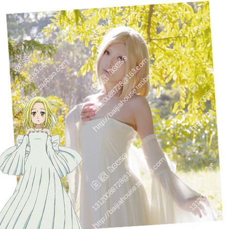 The Seven Deadly Sins Nanatsu Elaine lovely romantic yellow Wig and free cpas free shipping high quality hair<br><br>Aliexpress