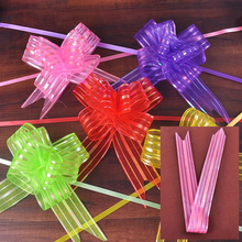 Pack of 10pcs Organza Yarn Pull Bows Bowknot Wedding Car Decoration Centerpieces Gift