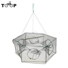 60 * 23cm Outdoor Foldable Fishing Net Hexagon 6 Hole Fishing Net Shrimp Cage Pesca Trap Minnow Crab Baits Mesh Trap Net(China)