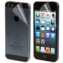 2 in 1 Front Screen + Back Cover Screen Protector for iPhone 5S Clear Screen Skin Guard