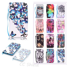 Case For Apple 7Plus iPhone 7 Plus fashion Luxury Painting PU Leather Case Card Slot Stand Wallet Phone Cover For iPhone7 plus