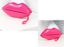 1piece Sexy Lip Bags Evening Party Red Lips Clutch Chain Shouder Patent Leather evening bag