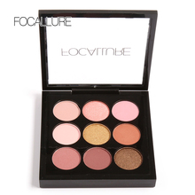 9 Color Matte Shimmer Pigment Eyeshadow Palette Professional Women Cosmetic Makeup Neutral Beauty Eye shadow Powder(China)