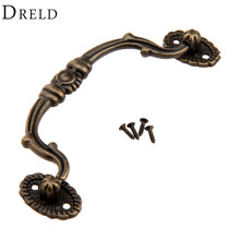 100mm Antique Brass Cabinet Knobs and Handles Retro Furniture Knobs Kitchen Drawer Cupboard Pull Handles Furniture Fittings